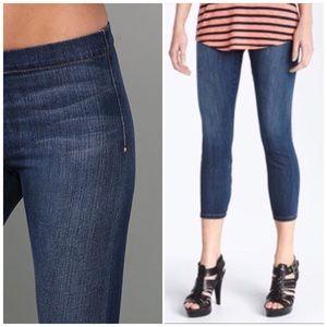 Joe's Jean Dark Wash Pull On Legging Cropped Jeans